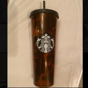 Starbucks 2019 Brown Turtoise Tumbler Venti Cold